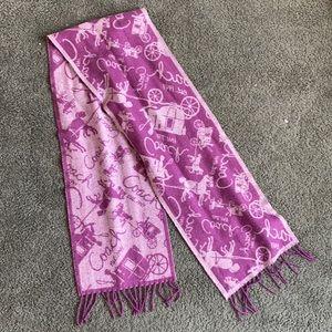 COACH print winter scarf